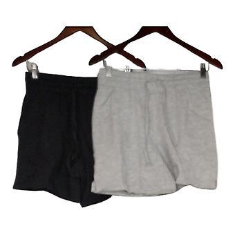Danskin Women's Shorts Ladies' Soft Active Short 2-Pack Black