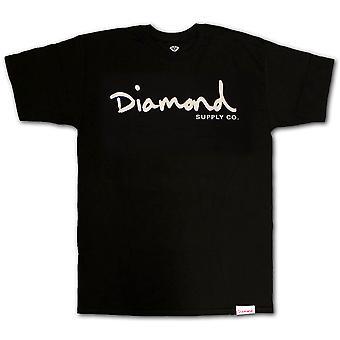 Diamond Supply Co OG Script T-shirt Black White