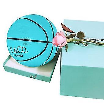 Tiffeely الصلبة اللون الشعبي لكرة السلة للبالغين ولدوا للرياضة (الأزرق)