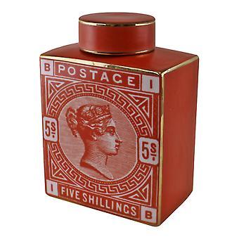 Briefmarke Dekoratives Ingwerglas, gebrannte Orange