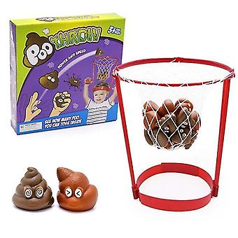 Pretend professions role playing outdoor headband hoop fake poops toys security catching game parent child game kids basketball