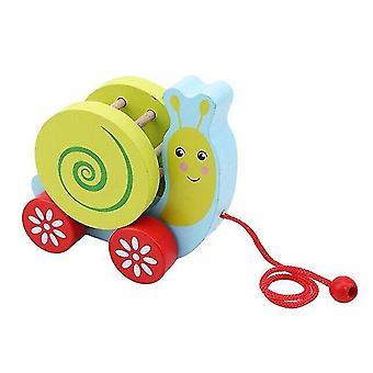 Деревянные блоки еж улитка малыш тележка малыш творческий перетаскивание тянуть кабель игрушка новинка интересные игрушки|блоки