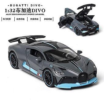 Toy cars 1:32 bugatti veyron alloy car model toy gray