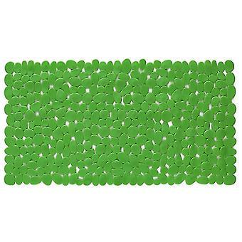 Rectangle Cobblestone Bath Mat Anti-slip Cushion for Bathroom 88*40cm(88*40cm)(Green)
