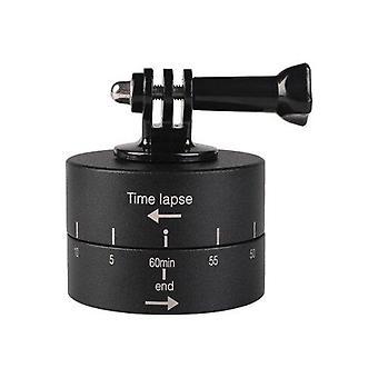 360 Grad Auto Rotation 60 Minuten Zeitraffer-Stabilisator Stativ Kopf Adapter für GoPro (Schwarz)