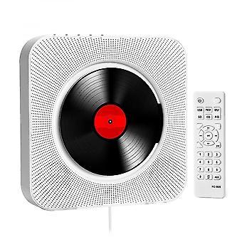 Us plug portable cd player with bluetooth remote control walkman stereo fm radio hifi music built-in speaker discman lecteur cd kc-909