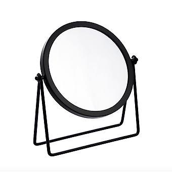 Okrągłe kute żelazo w stylu europejskim Jednostronne biurko Makeup Mirror Simple Retro Girl Desktop Toaletka Lustro