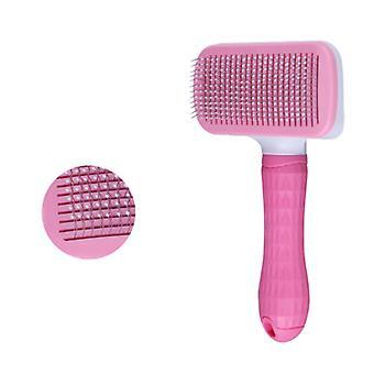 Haustierbedarf, Ein-Klick-Bleichmittel-Krawattenbürste, Hundekatzenbürste, selbstreinigende Katzenhund-Tote Haarbürste, entfernen Sie effektiv bis zu 95% der toten Haare und Fusseln, Su