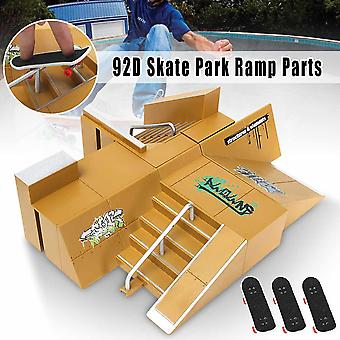 Skateboard Park Toy Ramp Parts Technologie Plate-forme Fingerboard Toy Game