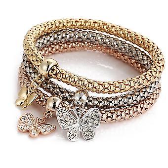 Alloy Elastic Popcorn Butterfly Bracelet Jewelry Female