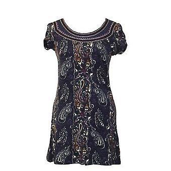 Culture Embroidered Neckline Dress