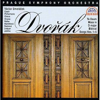 A. Dvorak - Dvor K: Te Deum; Mass in D Major; Biblical Songs Nos. 1 - 5 [CD] USA import