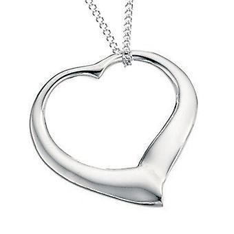 925 sølv hjerte halskjede