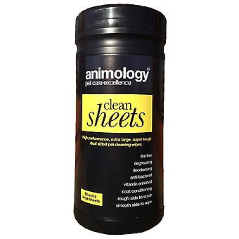 GRP 55 Animology Dual Sided Pet Cleaning Wipes (80 Sheets)