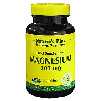 Natures Plus Magnesium 200mg, 90 Tablets