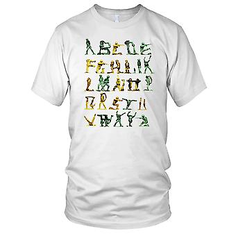 Toy Soldiers Alphabet Cool Mens T Shirt