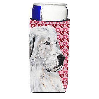 Pyrenäenberghund Herzen und Liebe Ultra Getränke Isolatoren für schlanke Dosen