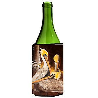 البجع البنى النبيذ زجاجة المشروبات عازل نعالها