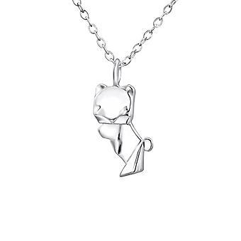 Papiroflexia Oso - collares de llanura de plata esterlina 925 - W26047X