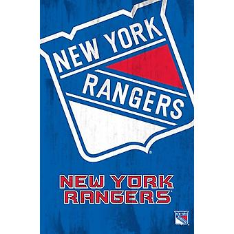 NY Rangers - Logo juliste Juliste Tulosta