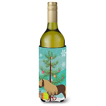 Shetland Pony Horse Christmas Wine Bottle Beverge Insulator Hugger