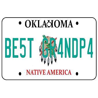 Oklahoma - Best Grandpa License Plate Car Air Freshener