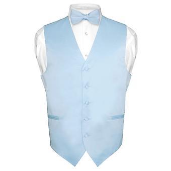 Mannen kleding Vest & BowTie Solid strikje instellen voor pak of Tuxedo