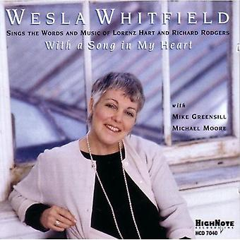 Weslia Whitfield - With a Song in My Heart-Rodger [CD] USA import