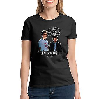 Napoleon Dynamite Listen To Your Heart Women's Black Funny T-shirt
