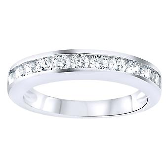 Sterling 925 Silver pave ring - CZ BAND