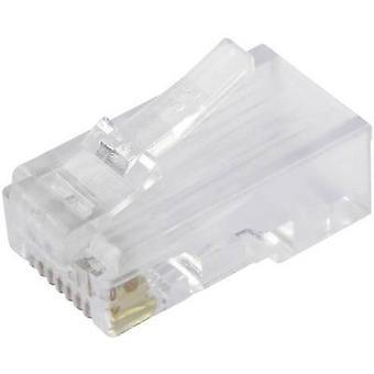 Modüler fiş Korumasız CAT.5e Fiş, düz pim sayısı: 8P8C SS-37000-002 Glassy BEL Stewart Konektörler SS-37000-002 1 adet(ler)