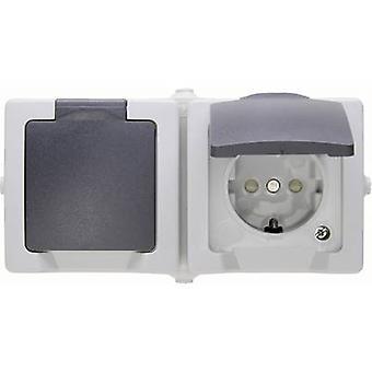 Kopp 137056002 våt rums växel sortiment PG-uttag (+ lock) Nautic Grey