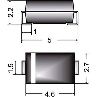 Semikron diodo Zener Z1SMA30 recinto tipo (semiconductores) 214AC Zener voltaje de 30 V P(TOT) (max) potencia 1 W
