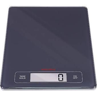 Soehnle KWD sivu Profi keittiövaakaa digitaalinen paino alue = 15 kg musta