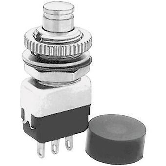 APEM 10435A לחצן נעצים 220 V AC 2 A 1 x On/(כבוי) רגעית 1 pc (עם)