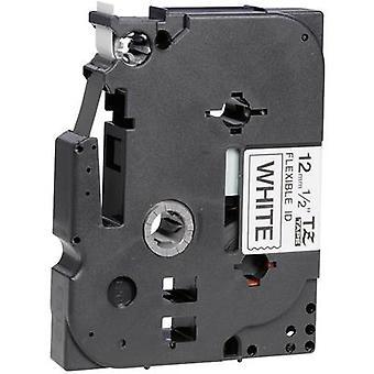 Labelling tape (flexible) Brother TZe-FX, TZ-FX TZe-FX231 Tape colour: White Font colour:Black 12 mm 8 m