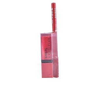Bourjois Rouge Edition Lápiz Labial terciopelo #13+contorno Lipliner #6 Gratis para mujer