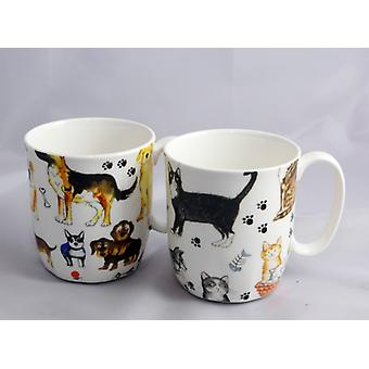 English Bone China Mugs for pet lovers