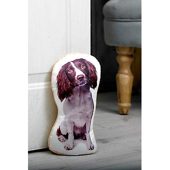 Adorable springer spaniel doorstop