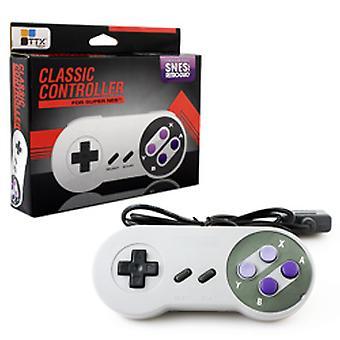 TTX Tech klassieke Controller voor Super Nintendo SNES - grijs