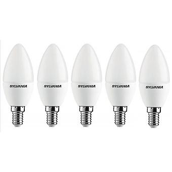 5 x Sylvania ToLEDo Candle E14 V3 3.2W Daylight LED 250lm [Energy Class A+]