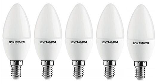 5 x Sylvania ToLEDo Candle E14 V3 3.2W Daylight LED 250lm [Energy Class A+]