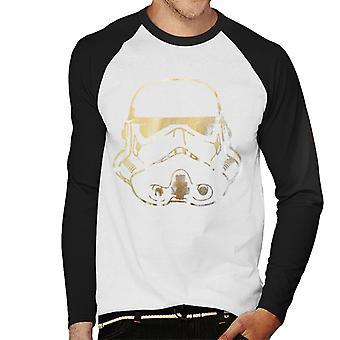 Original Stormtrooper Helmet Gold Foil Men's Baseball Long Sleeved T-Shirt