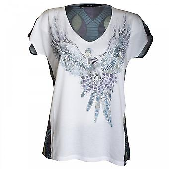 Oui Eagle Bird Print Top