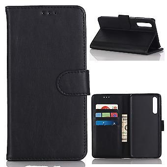 Huawei P20 Pro Retro Brieftasche Fall-Schwarz
