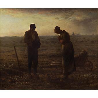 De Angelus (avondgebed), Jean Francois Millet, 55,5 x66cm