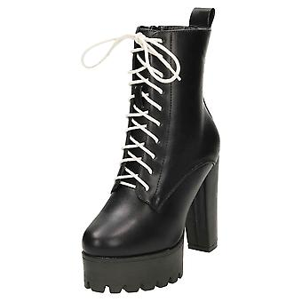 Koi Footwear High Heel Platform Lace Up Ankle Boots Chunky