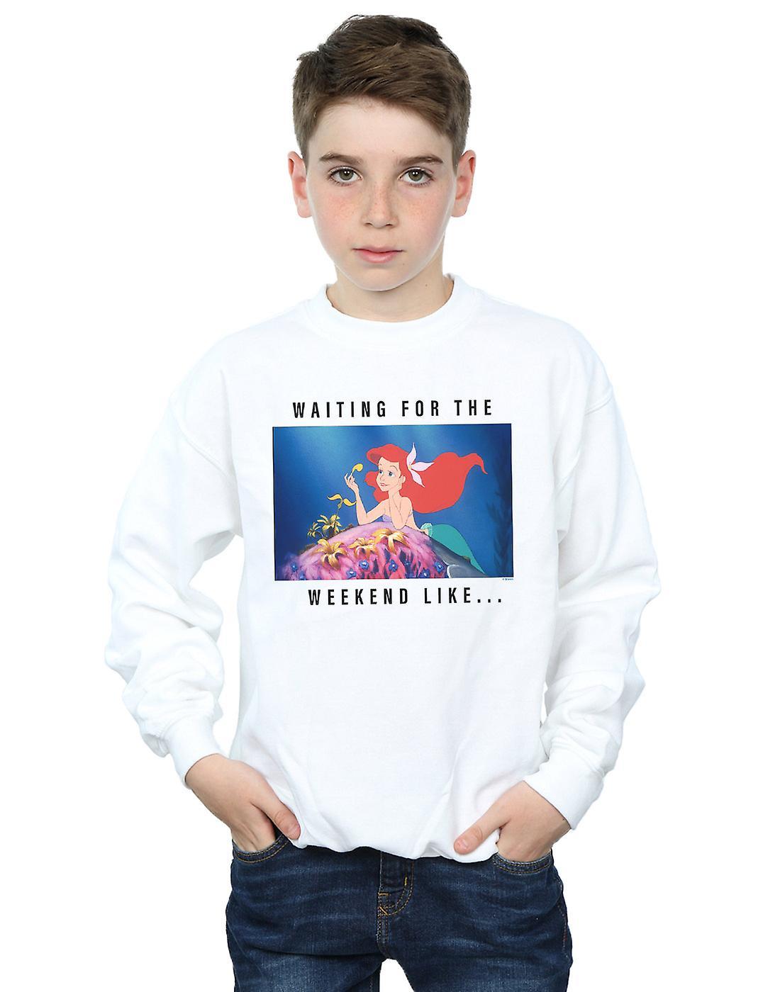 Disney Princess Boys Ariel Waiting For The Weekend Sweatshirt