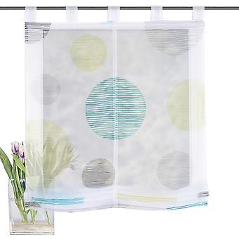 Home Interior ideas Raffarin blind» BORDEN «with loops of blue green H/W 140 x 80 cm».