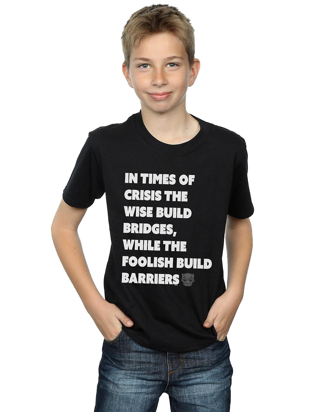 Marvel Boys Black Panther Times Of Crisis T-Shirt